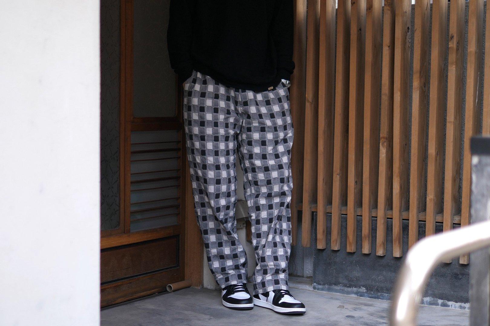 KUON / DAN別注 吉野格子パンツ
