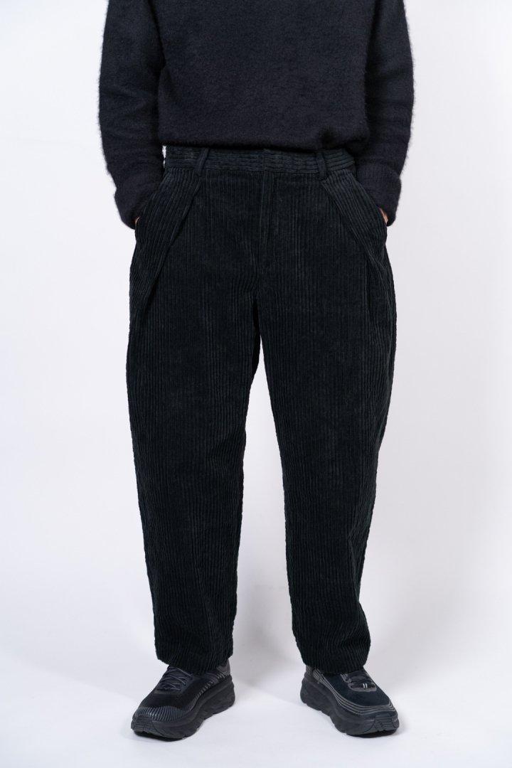 COLINA / CORDUROY W-TUCK PANTS