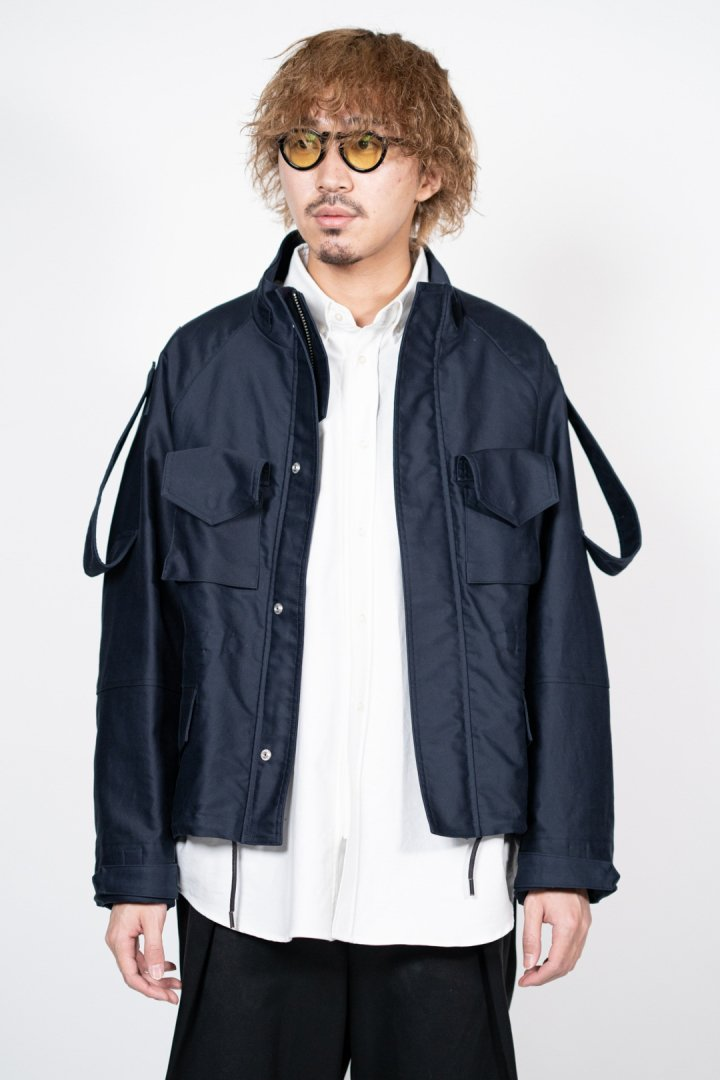 SOUMO / FIELD JACKET GIZA MOLESKIN CLOTH