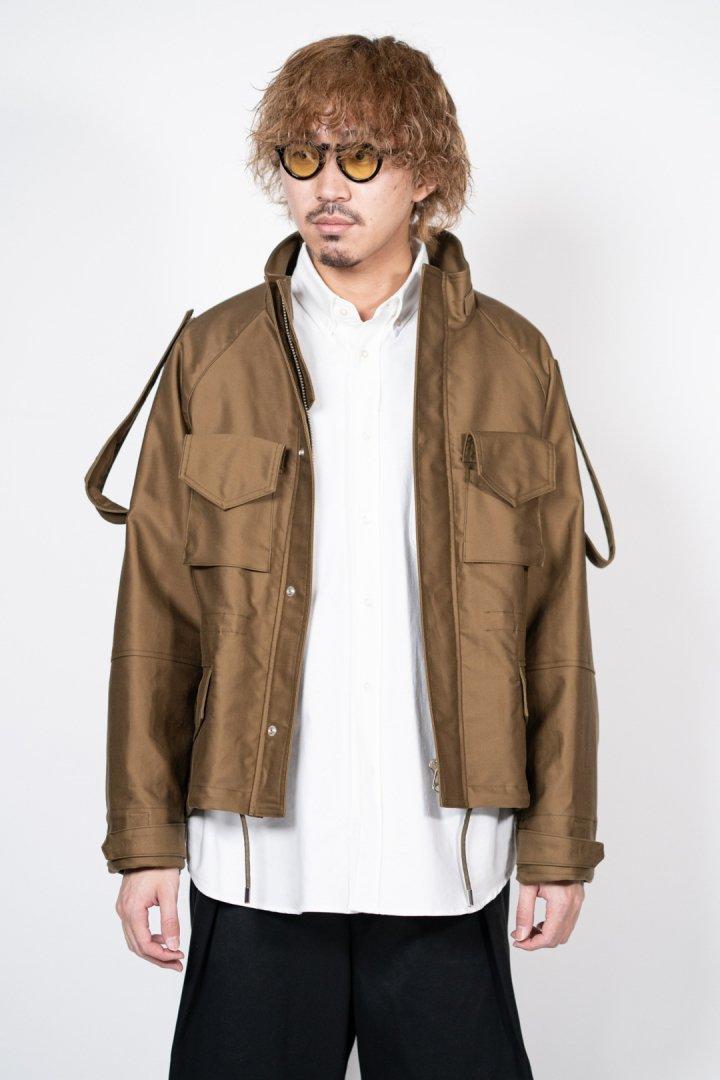SOUMO /FIELD JACKET GIZA MOLESKIN CLOTH