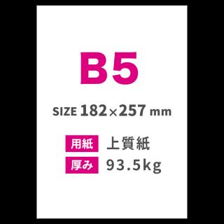 B5チラシ印刷(用紙:上質紙 93.5kg)