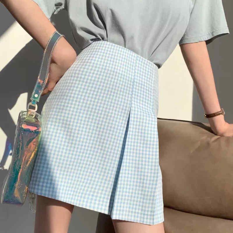 ギンガムチェックミニタイトスカート(4colors)