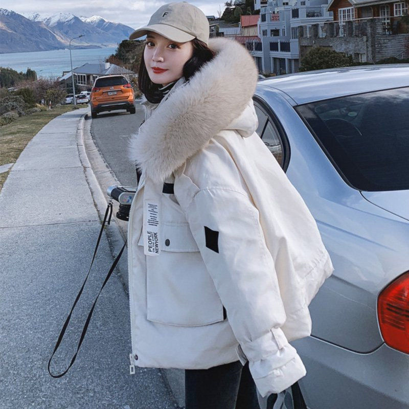 ファー付き中綿オーバーサイズジャケット(2colors)