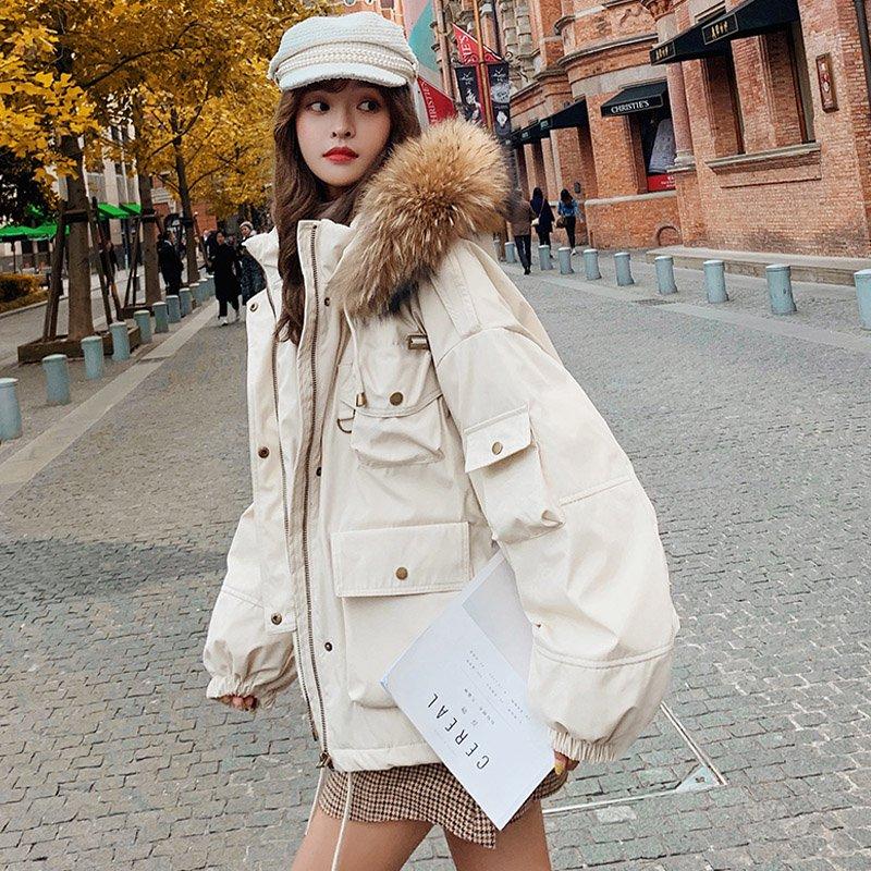 ファー付き中綿オーバーサイズジャケット(5colors)