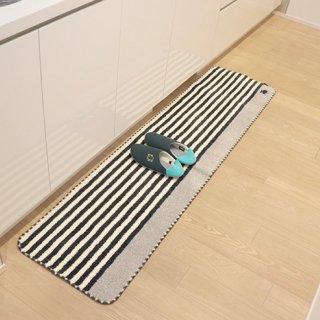 moz|モズ 北欧デザインのかわいいキッチンマット  ボーダー M 180×45 cm 滑り止め加工