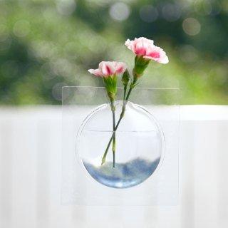 【+d】窓やドア・壁に張って宙に浮く一輪差し kaki
