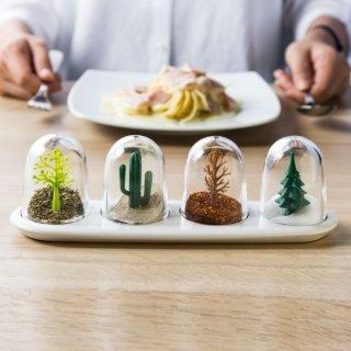 かわいい 動物 植物の調味料入れクオリー シーズニングシェーカー 動物・植物シリーズ調味料入れ 4個セット
