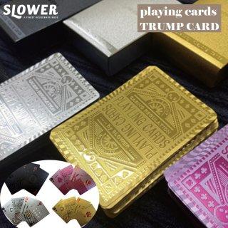 SLOWER スロウワー トランプ カード ポーカー ゴールド 金 銀 手品 プラスチック ゲーム マジック ゲーム テーブルゲーム 大富豪 カジノ TRUMP CARD 娯楽 アウトドア キャンプ