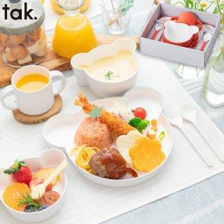 こども用食器セット 離乳食 食器セット おしゃれ  tak キッズディッシュ ギフトボックス カトラリー ベア 日本製 6点 キッズプレート 皿 コップ ベビー 赤ちゃん 出産祝い プレゼント