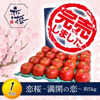<img class='new_mark_img1' src='https://img.shop-pro.jp/img/new/icons61.gif' style='border:none;display:inline;margin:0px;padding:0px;width:auto;' />【1等級品】恋桜〜満開の恋〜約5kg(18〜20玉)