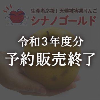 【生産者応援】天候被害果りんご・シナノゴールド
