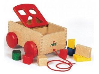 N車付ポストボックス nic/ニック社 引いて遊べる型はめおもちゃ
