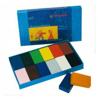 みつろうブロッククレヨン12色紙箱 STOCKMAR/シュトックマー社 ドイツ製
