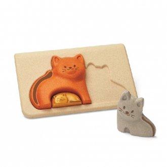 ネコのパズル PLAN TOYS/プラントイ社