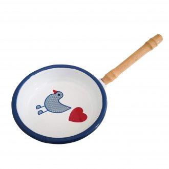 青い鳥 フライパン ホーロー食器 ミュンダーエマイル社