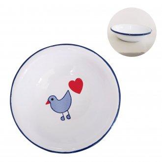 青い鳥 シリアルボール ホーロー食器 ミュンダーエマイル社
