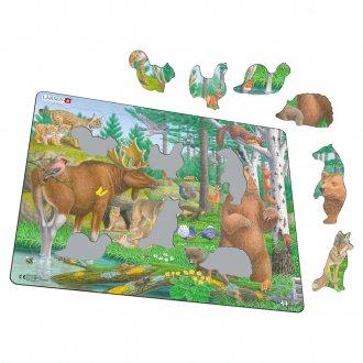 森の動物 29ピース紙製パズル LARSEN/ラーセン社
