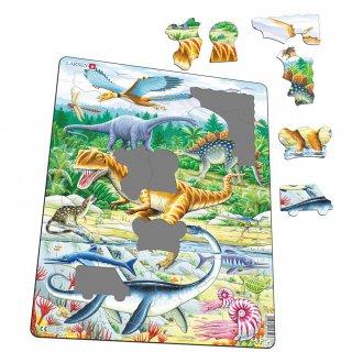 恐竜アロサウルス 35ピース紙製パズル LARSEN/ラーセン社