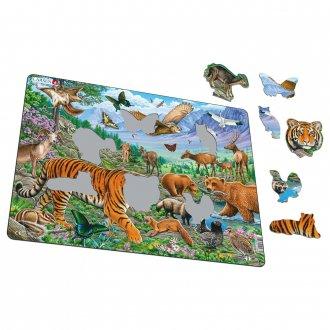 シベリアの動物 36ピース紙製パズル LARSEN/ラーセン社