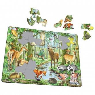 ヨーロッパの森 40ピース紙製パズル LARSEN/ラーセン社