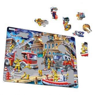 消防士 45ピース紙製パズル LARSEN/ラーセン社