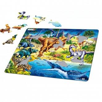 恐竜ティラノサウルス 57ピース紙製パズル LARSEN/ラーセン社