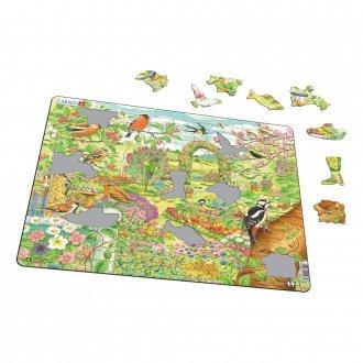 鳥と花園 60ピース紙製パズル LARSEN/ラーセン社
