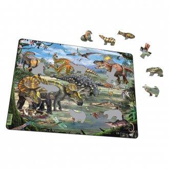 恐竜トリケラトプス 65ピース紙製パズル LARSEN/ラーセン社