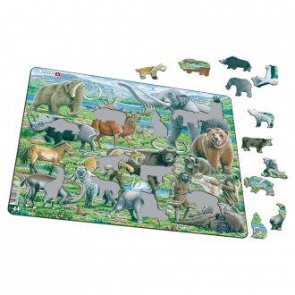 古代の動物 66ピース紙製パズル LARSEN/ラーセン社