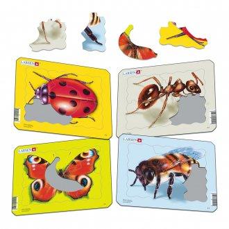 昆虫 紙製 パズルミニ4枚セット LARSEN/ラーセン社