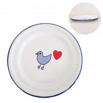 青い鳥 お皿 ホーロー食器 ミュンダーエマイル社