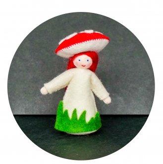 赤いきのこの女の子  ホワイト Ambrosius Doll/アンブロシウス ドール 春の妖精