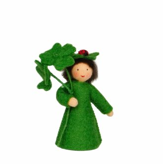 クローバーとてんとう虫 手に装飾 ベージュ  Ambrosius Dolls/アンブロシウス 春の妖精