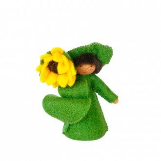 ひまわりBOY ブラウン 手に花 Ambrosius fairy/アンブロシウス フェアリー 夏の妖精