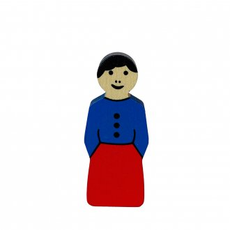 A女の人(青x赤)  アルビスブランの動物積み木