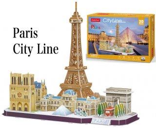 3Dパズル パリ シティライン