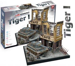 3Dパズル German Tiger Mid Production(ティーガーI)