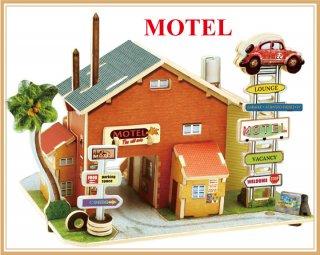 3D木製 パズル アメリカ・スタイル  モーテル