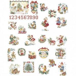 クリスマス アドベントカレンダー/ 25のモチーフ 図案