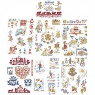 山の大きなストーリー(自然・クリスマス)/ 50のモチーフ 図案