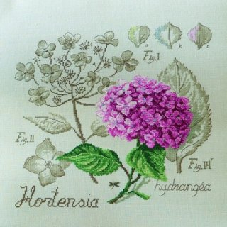 壁掛け Etude a l'Hortensia(あじさいのエチュード) クロスステッチキット