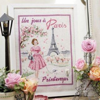 Un jour a Paris au printemps(パリの春のある日) クロスステッチキット