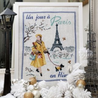 Un jour a Paris en hiver(パリの冬のある日) クロスステッチキット