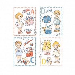 Le grand ABC 26のモチーフ(Paper dolls・ペーパードール) 図案