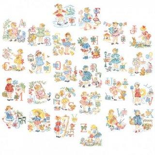 Le grand ABC - Les petites filles modeles (レ・プティット・フィーユ・モデル26のモチーフ) 図案