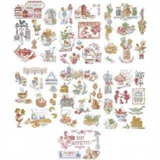 La grande histoire de la cuisine (キッチンの大きな物語 50のモチーフ) 図案