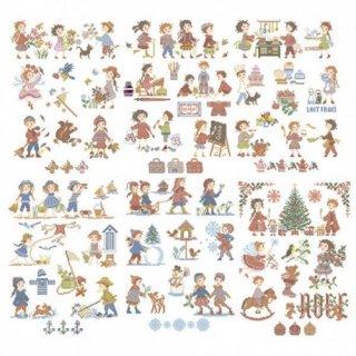 La grande histoire des enfants(子供たちの大きな物語 50のモチーフ) 図案