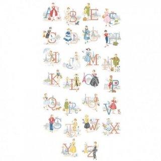 Le grand ABC-Les Parisiennes (アルファベット パリジェンヌ26のモチーフ) 図案