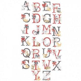 Le grand ABC-Chats (アルファベット 猫 26のモチーフ) 図案