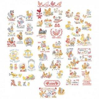 La grande histoire des poulettes (ひよこの大きなストーリー 53のモチーフ) 図案